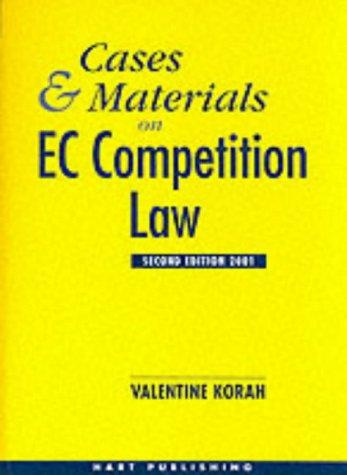 Cases and materials on EC competition law