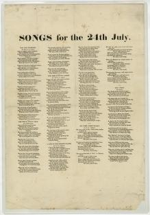 Songs for the 24th July (1851a)