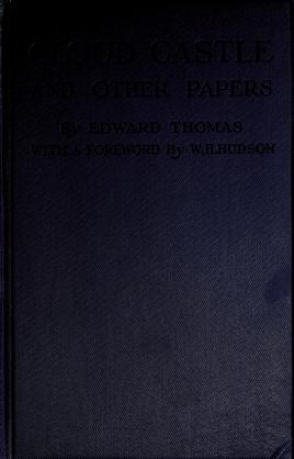 Cover of: Cloud castle and other papers | Thomas, Edward