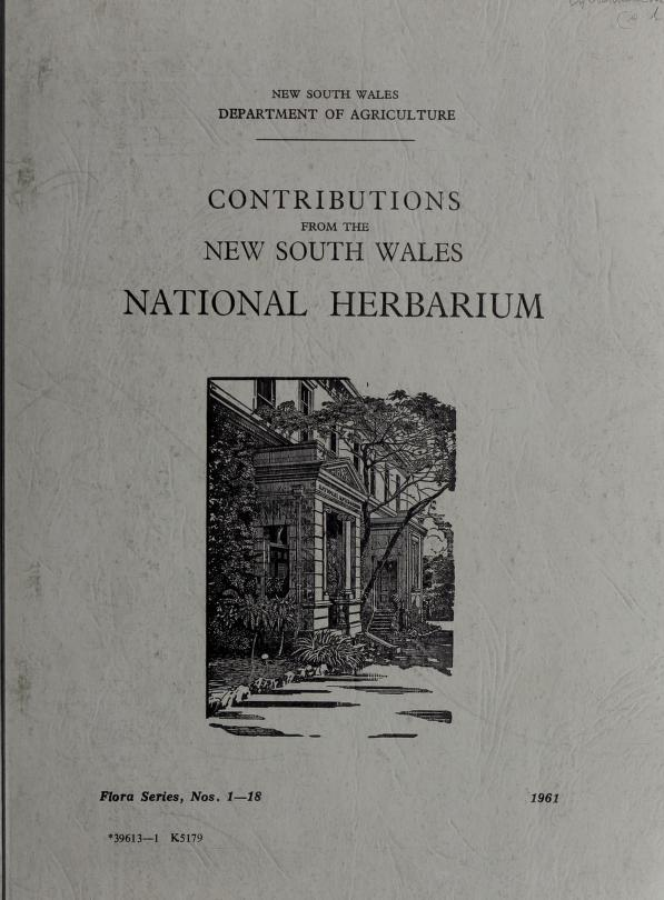 Contributions from the New South Wales National Herbarium by New South Wales National Herbarium