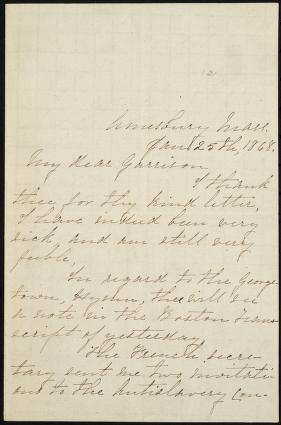 [Letter to] My Dear Garrison by John Greenleaf Whittier