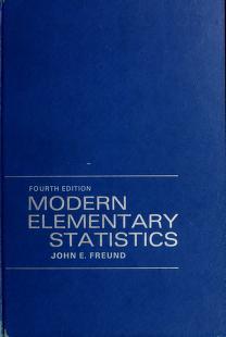 Cover of: Modern elementary statistics | John E. Freund
