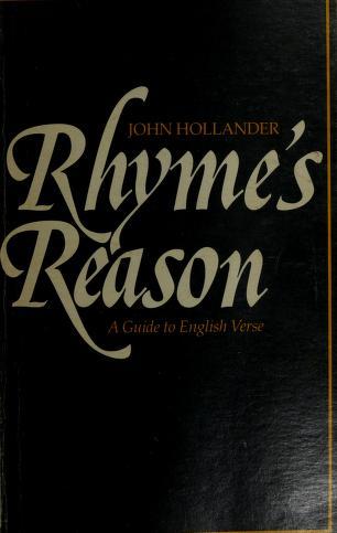 Cover of: Rhyme's reason   John Hollander