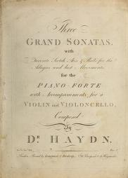 Three grand sonatas by Joseph Haydn