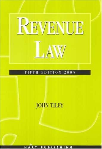 Revenue law by John Tiley