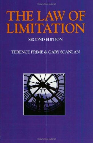 The law of limitation by Terence Prime