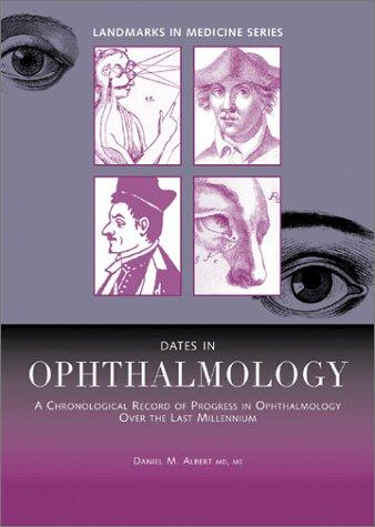 Dates in ophthalmology by Daniel M. Albert
